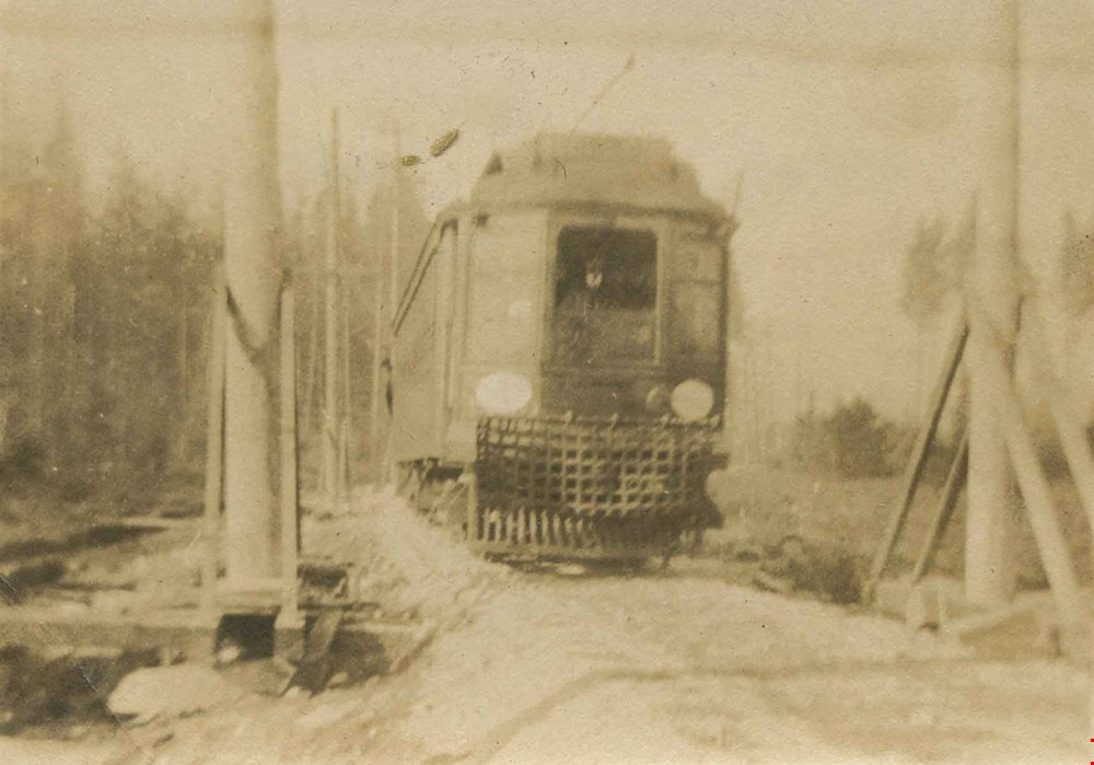First Burnaby Lake tram